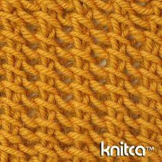 Right side of knitting stitch pattern – Lace 21 at www.knitca.com