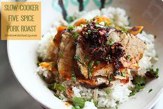 Slow-Cooker Five Spice Pork Roast with Sweet Potatoes foodiewithfamily.com