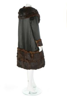 Coat (image 4) | Gabrielle Chanel | 1918-1920 | satin, silk, fur | Kerry Taylor Auctions | December 12, 2016 | Early and rare Chanel creation.