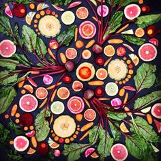 Amber Locke is a 'vegan artist' who creates amazing geometric designs from   fruit and vegetables