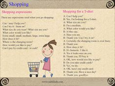 English teacher: Buying clothes
