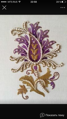 Wonderful Ribbon Embroidery Flowers by Hand Ideas. Enchanting Ribbon Embroidery Flowers by Hand Ideas. Jacobean Embroidery, Pearl Embroidery, Tambour Embroidery, Embroidery Motifs, Silk Ribbon Embroidery, Hand Embroidery Designs, Embroidery Ideas, Crazy Quilting, Motifs Perler