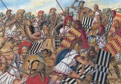 Marathon: The Athenian charge reaches the Persian line