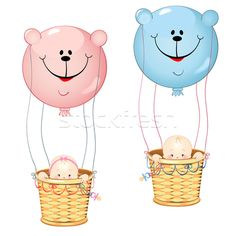 Kids on the balloon - Векторная графика  - пользователем Maiia Shekmar (Mayamy) - Stockfresh #4394225