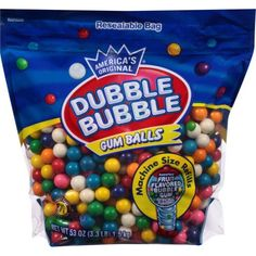 Dubble Bubble Gumball Refill, 8 Flavors, lbs for sale online Bubble Fruit, Bubble Gum Machine, Pastel Candy, Candy Brands, Party Buffet, Gumball Machine, Ben And Jerrys Ice Cream, Bubbles, Sweets