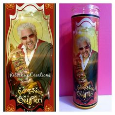 This is the perfect addition to any Guy Fieri fans life. x traditional prayer candle Fragrance Free The wax color you choose may vary from photo . Guy Fieri Meme, Guy Feiri, Funny Prayers, Bobby Flay Recipes, Mike Wazowski, Disney Food, Disney Recipes, White Candles, Good Jokes