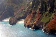 Na Pali Coast, Kauai, Hawaii, USA The Na Pali Coast is on the oldest inhabited Hawaiian Island, Kauai.