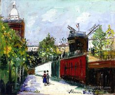 Maurice Utrillo Montmartre oil painting reproductions for sale
