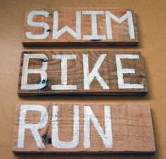 I Am Tri - Helping All Triathletes Stay Informed Gifts For Triathletes, Triathlon Motivation, Wood Pallets, Pallet Wood, Race Bibs, Christmas Gifts To Make, Bike Run, Swimming, Crafty