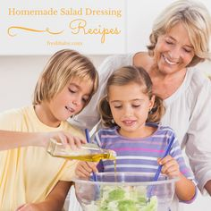 Make your own salad dressing with these 5 easy and healthy recipes. The kids will even enjoy helping you!