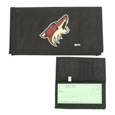 Phoenix Coyotes Checkbook Cover / ID Holder by NHL. $4.98. Show off your team spirit while keeping your checkbook & ID cards organized in this vinyl checkbook / ID card holder.