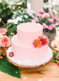 Pink & Yellow Tropical Bridal Shower - Inspired by This