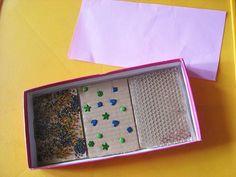 DIY Texture board storage box – Julie K in Taiwan Sensory Tubs, Sensory Boxes, Sensory Activities, Therapy Activities, Sensory Play, Therapy Ideas, Cognitive Activities, Infant Activities, Art Therapy