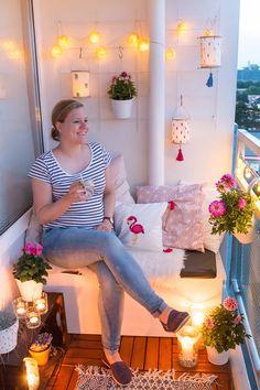 DIY Lampions für den Balkon basteln - Beleuchtung für Garten und Balkon