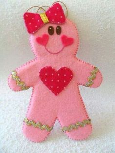 Breast cancer gingerbread girl