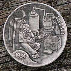 Marcus Hunt - Grandpa's Kitchen Hunt Photos, Hobo Nickel, Modern Artists, Coin Collecting, Skull Art, Art Forms, Sculpture Art, Coins, Auction