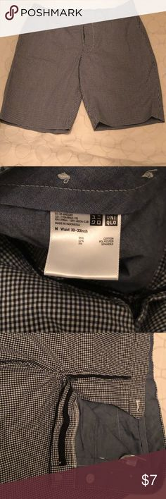 82779ff89f UNIQLO men summer shorts, tiny squares print Worn once UNIQLO shorts Waist  30-33