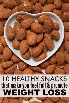 Losing weight and getting in shape wouldnt be so hard if it didnt make us so darn hungry. Amiright??! Thankfully, there are TONS of healthy snacks out there that not only make you feel FULL, but that also promote weight loss. Leave a comment if you have any other superfoods to add to this list!