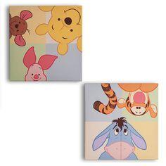 Winnie the Pooh Canvas wall art, Peeking Pooh