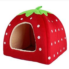 Special Offers - Strawberry Cotton Soft Dog Cat Pet Bed House S/m/l/xl/xxl (XXL Red) - In stock & Free Shipping. You can save more money! Check It (June 16 2016 at 06:49PM) >> http://doghousesusa.net/strawberry-cotton-soft-dog-cat-pet-bed-house-smlxlxxl-xxl-red/