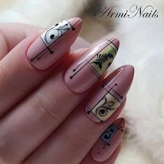 Nail art Christmas - the festive spirit on the nails. Over 70 creative ideas and tutorials - My Nails New Nail Art, Cool Nail Art, Nail Art Arabesque, Cute Nails, My Nails, Nailart, Pastel Nails, Pastel Pink, Best Nail Art Designs