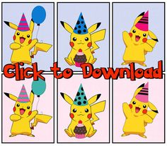 Pikachu Party Banner for a Pokemon Party Free Printable Download