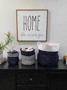 Modern Basket Crochet PATTERN Home Decoration Minimalism | Etsy