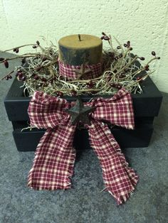 Primitive candle box.