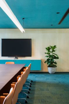 Boardroom / meeting room with videoconferencing at PEXA Offices – Melbourne