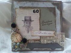 Vintage man Vintage Man, I Card, Frame, Home Decor, Vintage Maps, Homemade Home Decor, A Frame, Frames, Hoop