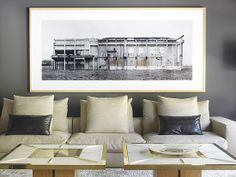 :: DETAILS :: artwork can frame a seating arrangement and add interest ... #details
