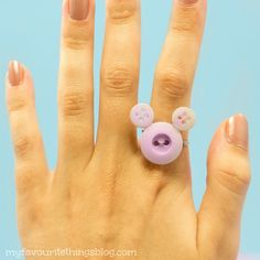 Disney ~ DIY Mickey Mouse ring. (Add a bow to make it a Minnie Mouse ring)