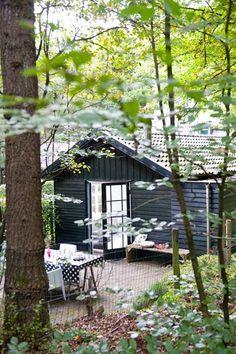 Casinha colorida: Uma casa na floresta onde o calor não entra