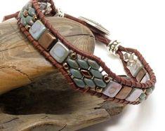 LEATHER WRAP BRACELET-Beaded Leather Wrap-Southwest Leather Bracelet-Boho Leather Wrap-Boho Leather Bracelet-Boho Jewelry-Hippie