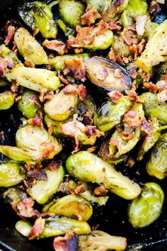 Pan Roasted Brussel Sprouts, Sprouts With Bacon, Brussels Sprouts, Roasted Vegetables, Veggies, Bacon Recipes, Vegetable Recipes, Thm Recipes, Casserole Recipes