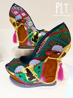 Camel wedges #Irregular Choice...