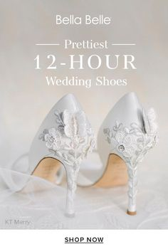 Brides wear Bella Belle wedding shoes for more than 12-hours, from getting ready to dancing all night. These wedding heels are made for all-day wear. Wedding Heels, Our Wedding, Bridal Shoes, Dancing, Brides, Shop Now, Ivory, Pure Products, Night