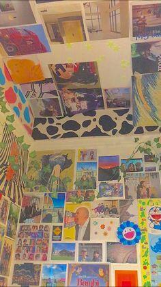 Indie Bedroom, Indie Room Decor, Cute Room Decor, Aesthetic Room Decor, Wall Decor, Diy Wall, Room Ideas Bedroom, Bedroom Decor, Bedroom Inspo