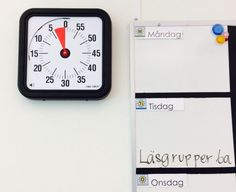 bild-time-timer-klassrum Time Timer, Aspergers, Motivation, Adhd, Autism, School Ideas, Posters, Tips, Poster
