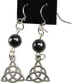Hematite Triquetra earrings