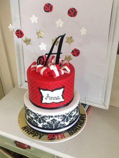 Striking birthday cake