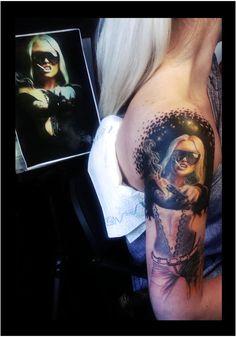 3D tattoo in progress