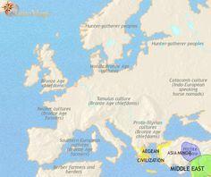 map of ancient europe 1500 BC - 1000 BC (pt 3/8)