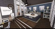 Two Story House Design, Tiny House Layout, Unique House Design, House Layouts, Home Building Design, Home Design Plans, Building A House, Modern Master Bedroom, Cozy Bedroom