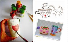 Tutorial Diy, Crafts For Kids, Arts And Crafts, Paper Mache Crafts, Work Images, Beer Opener, Teaching Tools, Diy Hacks, Craft Patterns