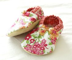 e227ff588b582 May Day Bison Booties baby Size 6 to 12 Months Ready to Ship floral summer  girly shoes bootys