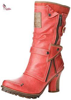 Mustang 1141606, Boots femme - Rouge (5 Rot), 38 EU - Chaussures mustang (*Partner-Link)