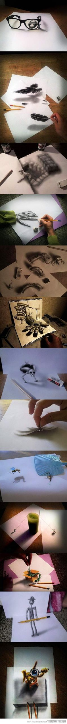Awesome 3D Optical Illusions…These are crazy