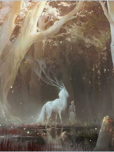 the feywild kunst art Mythical Creatures Art, Magical Creatures, Forest Creatures, Fantasy Kunst, Art Anime, Fantasy Inspiration, Fantasy Landscape, Fantasy Artwork, Fantasy Paintings