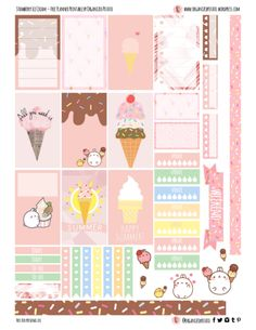 Free Planner Printable - Strawberry Ice Cream for Happy Planner Classic #planner #printable #freeprintables #plannerprintables #molang #kawaii #icecream #popsicle #summer #cute #erincondren #mambi #meandmybigideas #plannerideas #plannerinspo #plannerstickers #stickers #pink #pastel #pastelpink #freeplannerprintables #pinkicecream #strawberry #strawberryicecream